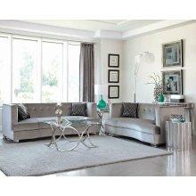Bling Game Living Room Contemporary Loveseat