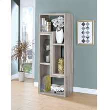 Contemporary Grey Driftwood Convertible TV Stand and Bookcase