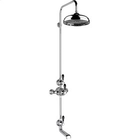 """Chrome Plate Exposed 1/2"""" thermostatic shower set - bath spout and shower"""