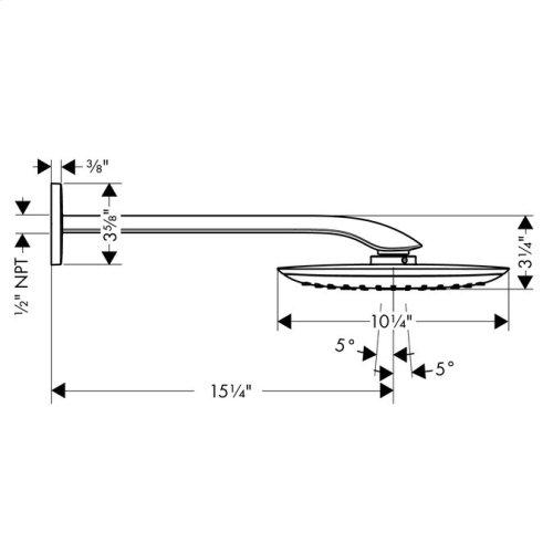 Chrome Showerhead 400 1-Jet with Showerarm, 2.5 GPM