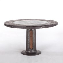 "Industrial Loft Round Dining Table 55"" Wagon Wheel"