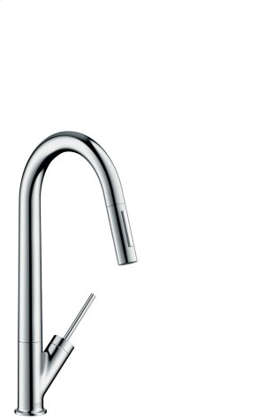 Chrome Single lever kitchen mixer 270 with pull-out spray Product Image