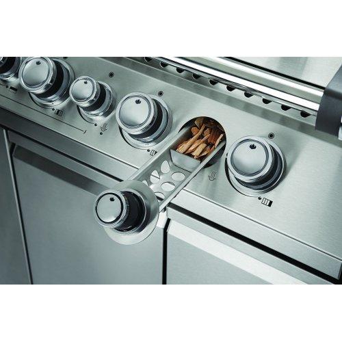 Napoleon's Prestige PRO™825 with side range burner and rear/internal infrared burners.