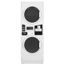 Commercial Gas Super-Capacity Stack Washer/Dryer, Coin Drop-Ready Export Model