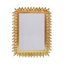 Rectangular Mirror With Leaf Frame In Gold Leaf