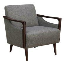 Mid-century Modern Grey Accent Chair
