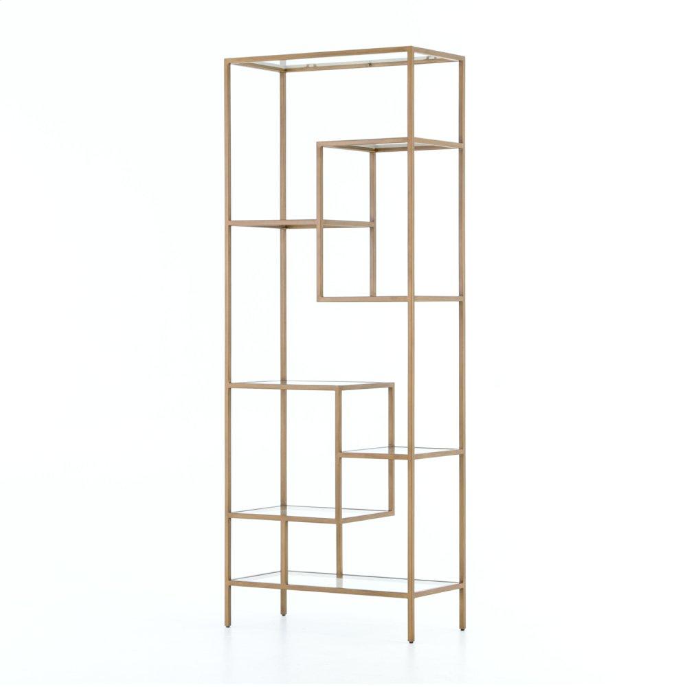 """83"""" Size Helena Brass Bookcase"""