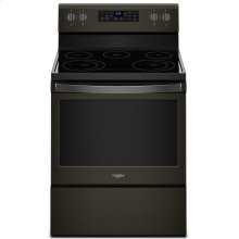 5.3 cu. ft. Freestanding Electric Range with Frozen Bake Technology Black Stainless