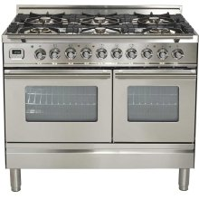 """40"""" - 6 Burner, Double Oven in Stainless Steel"""