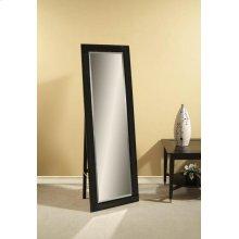 Beveled Black Glass Standing Mirror 24x72