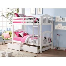 WHITE 2PC DRAWERS FOR 2354