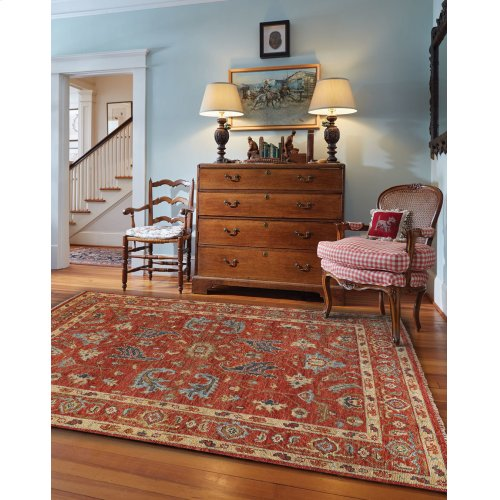 Charise-Ushak Scarlet Hand Knotted Rugs