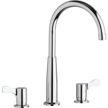 "Elkay 8"" Centerset Concealed Deck Mount Faucet with Gooseneck Spout and 2-5/8"" Lever Handles Chrome"