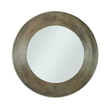 Casa Bella Reeded Mirror Timber Gray Finish