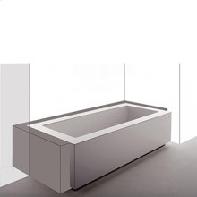 Bathtub in coextruded Grande built-in three sides. 1940 x 900 x h 540