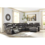 Hallstrung - Gray 6 Piece Sectional Product Image