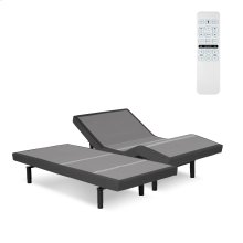 Surge Adjustable Bed Base with Full Body Massage and Wallhugger Technology, Flint Onyx Finish, Split King
