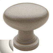 Polished Nickel Oval Knob