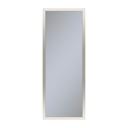 """Profiles 11-1/4"""" X 30"""" X 4"""" Framed Cabinet In Polished Nickel With Electrical Outlet, Usb Charging Ports, Magnetic Storage Strip and Left Hinge"""