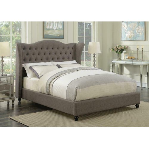 Newburgh Grey Upholstered King Bed
