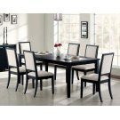 Louise Transitional Black Rectangular Dining Table Product Image