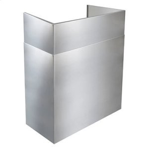"""Optional 24"""" to 45"""" Telescopic Flue Extension for Outdoor Range Hoods in a 16"""" Extended Depth Installation"""