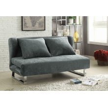 Transitional Grey Sofa Bed