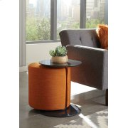 Transitional Orange and Grey Accent Table and Ottoman Product Image