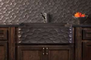 Wave Front Farmhouse Sink Honed Basalt Product Image
