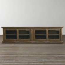 Emporium Smoked Oak Compass Double Sliding Door Credenza