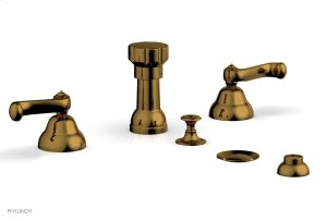 REVERE & SAVANNAH Four Hole Bidet Set D4102 - French Brass Product Image