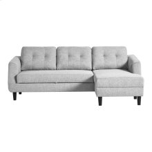 Belagio Sofa Bed With Chaise Light Grey Right