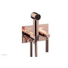 BASIC Wall Mounted Bidet, Lever Handle 130-65 - Polished Copper