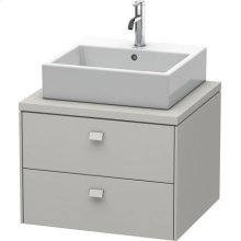 Brioso Vanity Unit For Console, Concrete Gray Matte (decor)