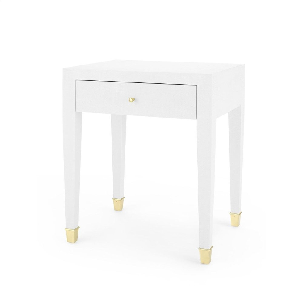 Claudette 1-Drawer Side Table, White