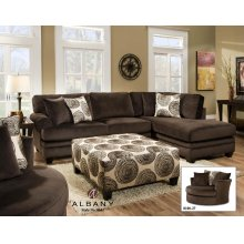 8642 Groovy Chocolate Sectional Sofa