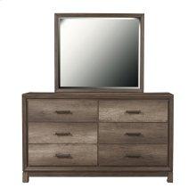 Framed Dresser Mirror in Elm Brown