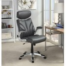 Contemporary Grey and Silver Office Chair Product Image