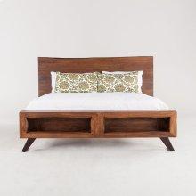 London Loft Bed King Walnut