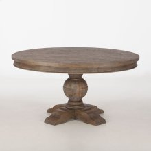 "Colonial Plantation Round Dining Table 72"" Weathered Teak"