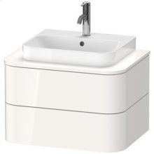Vanity Unit For Console Wall-mounted, For Above-counter Basin Happy D.2 Pluswhite High Gloss (decor)