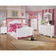Exquisite - White 6 Piece Bed Set (Twin)