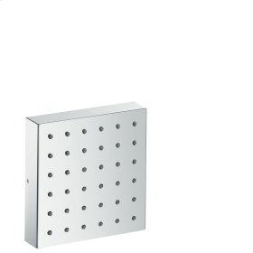 Brushed Brass Shower module 120/120 for concealed installation square