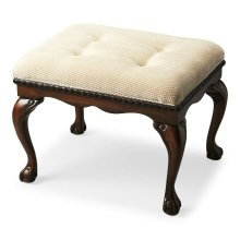 The Bench will infuse elegance into virtually any decor with many design flourishes, including shapely Chippendale legs, classic claw and ball feet, and carved apron and seat border. Crafted from wood solids in our Plantation Cherry finish. The comfortab