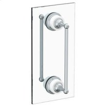 "Venetian 18"" Double Shower Door Pull/ Glass Mount Towel Bar"