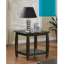Wood Top Espresso End Table