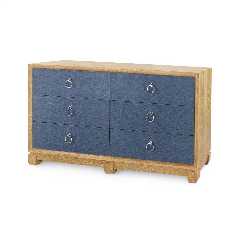 Calvin 6-Drawer, Navy Blue