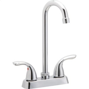 Elkay Everyday Bar Deck Mount Faucet and Lever Handles Chrome Product Image
