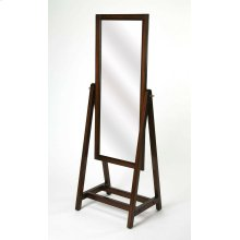 Complete your master suite or vanity ensemble with this cheval mirror. This classic cheval mirror has simple lines for a style that would blend in with modern or traditional bedrooms alike. Features include a full length tilting mirror, this mirror is bot