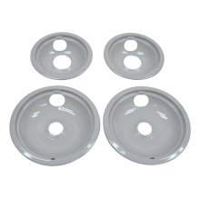 "Grey Drip Bowl Set, 2-6"", 2-8"" - Other"